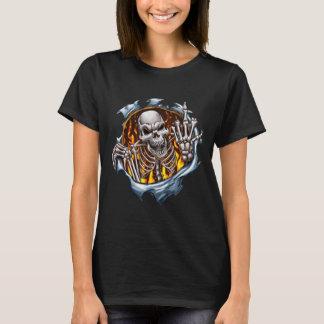 Camiseta Seu esqueleto do número um