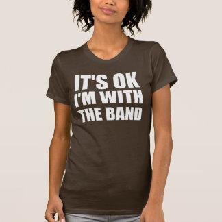 Camiseta Seu Im aprovado com a banda
