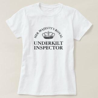 Camiseta Seu inspector inferior real do Kilt de majestade