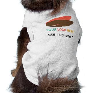 Camiseta Seu logotipo aqui pet o marketing relativo à promo