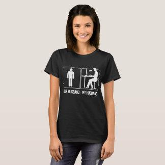 Camiseta Seu marido meu T orgulhoso Blogging do Blogger do