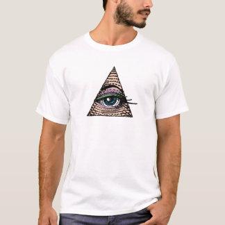 Camiseta Seu olho na pirâmide (azul)