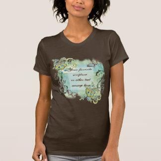 Camiseta Seu próprio texto aqui, o t-shirt da mulher