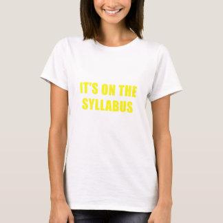 Camiseta Seu sobre o plano de estudos