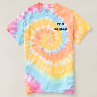 Camiseta Seu t-shirt do laço-dado da espiral do keiran