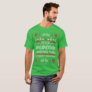 Camiseta Seu Tshirt feio da camisola da coisa maurícia do