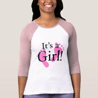 Camiseta Seu uma menina - bebê, recém-nascido, chá de