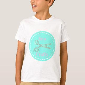 Camiseta Sew o Aqua esperto das cinzas do rosa Pastel