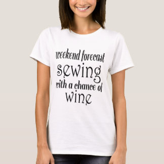 Camiseta Sewing e vinho