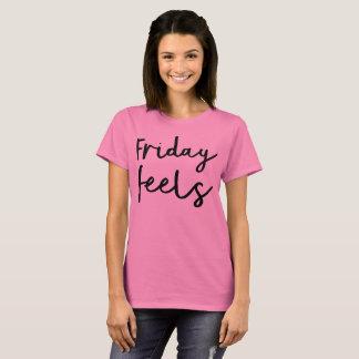 Camiseta sexta-feira sente o t-shirt leve