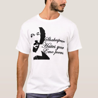 Camiseta Shakespeare deia poemas do emo