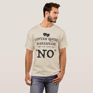 """Camiseta """"Shakespeare não """""""