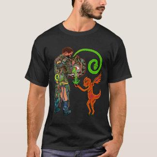 Camiseta Shaman nos reinos do espírito (homens de luxe)