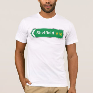 Camiseta Sheffield, sinal de estrada BRITÂNICO