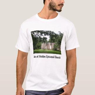 Camiseta sheldon, ruínas da igreja episcopal de Sheldon