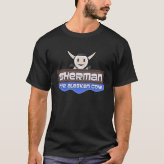 Camiseta Sherman o t-shirt do Alasca do logotipo da vaca