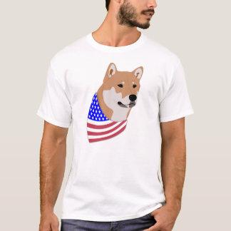 Camiseta Shiba Inus: Bandana patriótico Shiba Inu da