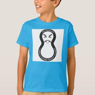 Camiseta shirtKeep Yucky dos amendoins seus miúdos seguros