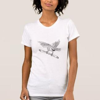 Camiseta Shrike que embreia a lâmina de hélice D preto e