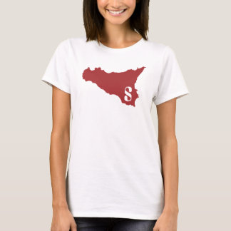 Camiseta Sicilia W darkred