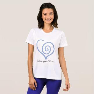 Camiseta Siga-o t-shirt do gráfico do coração