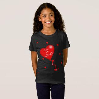 Camiseta Siga seu T das meninas do coração