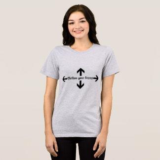 Camiseta Siga seu t-shirt feliz das citações
