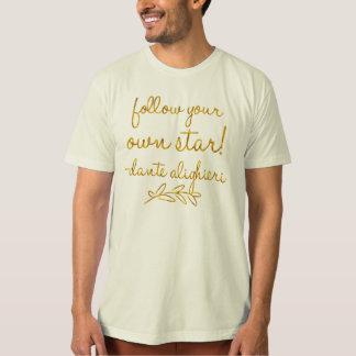 Camiseta Siga sua própria folha do falso do ouro de Dante