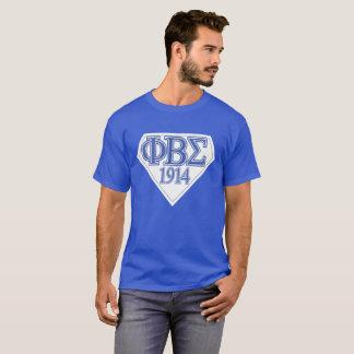 Camiseta Sigma super azul e branco no T azul