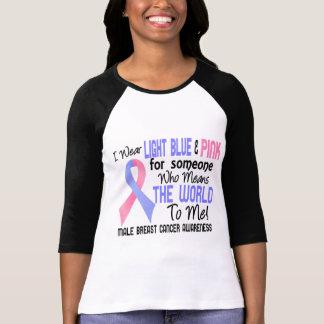 Camiseta Significa-me o mundo cancro da mama de 2 homens