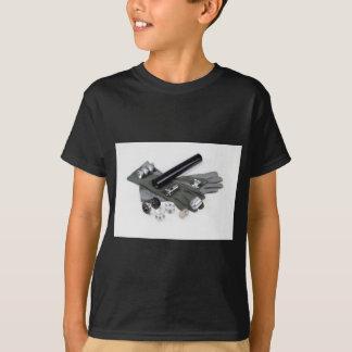 Camiseta Silenciador do supressor da arma de fogo com luvas