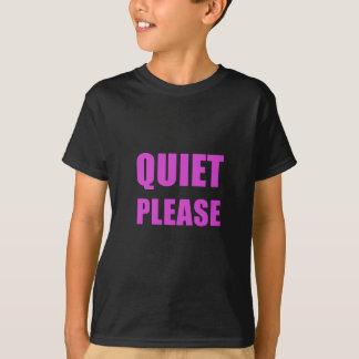 Camiseta Silêncio por favor
