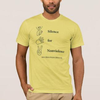 Camiseta Silêncio vertical para o design do Nonviolence