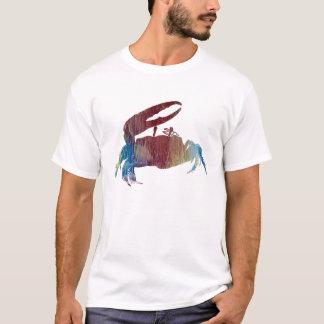 Camiseta Silhueta abstrata do caranguejo de violinista