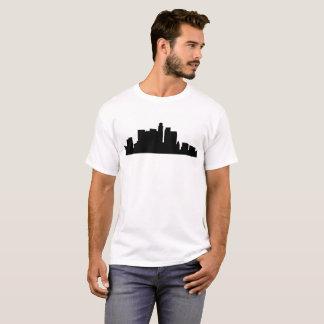 Camiseta silhueta América da skyline de Los Angeles