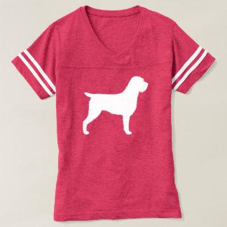 Camiseta Silhueta apontar Griffon Wirehaired