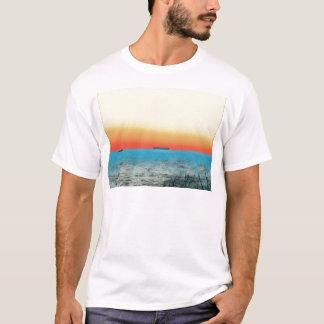 Camiseta Silhueta artística bonito do navio do Seascape