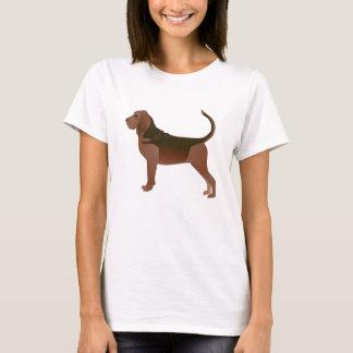 Camiseta Silhueta básica da ilustração da raça do