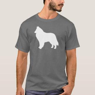 Camiseta Silhueta belga do Sheepdog