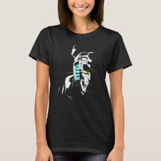Camiseta Silhueta brilhando do olho de Voltron  