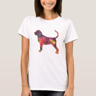 Camiseta Silhueta colorida do teste padrão de Geo do