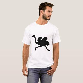 Camiseta Silhueta da avestruz