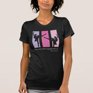 Camiseta Silhueta da bailarina no rosa