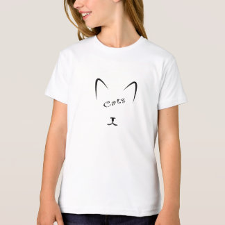 Camiseta silhueta da cara do gato