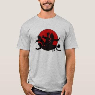 Camiseta Silhueta da horda do zombi