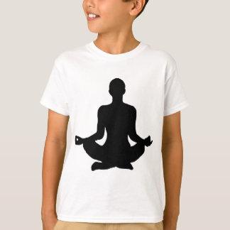 Camiseta Silhueta da pose da ioga
