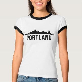 Camiseta Silhueta da skyline de Portland