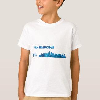 Camiseta Silhueta da skyline de San Francisco