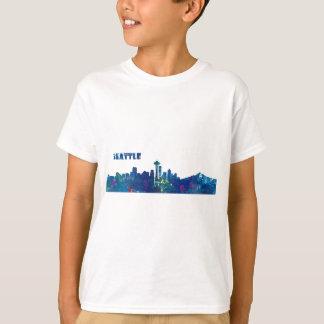 Camiseta Silhueta da skyline de Seattle
