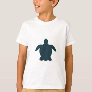 Camiseta Silhueta da tartaruga de mar com sombra